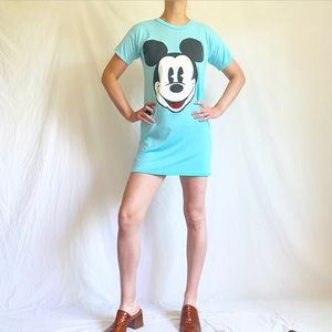 Vintage 80s Mickey Mouse Nightgown Or Dress